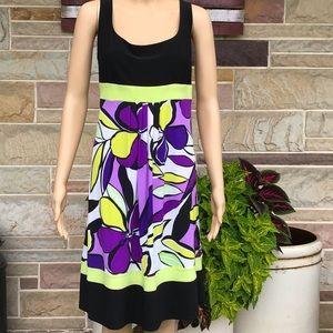 Ronni Nicole Print Empire Waist Dress